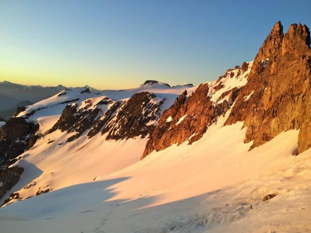 Sur le Glacier du Monêtier en montant aux Agneaux