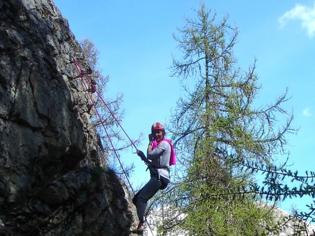 École d'escalade du Bez. Cours d'escalade avec les guides de Serre Chevalier, Briançonnais.