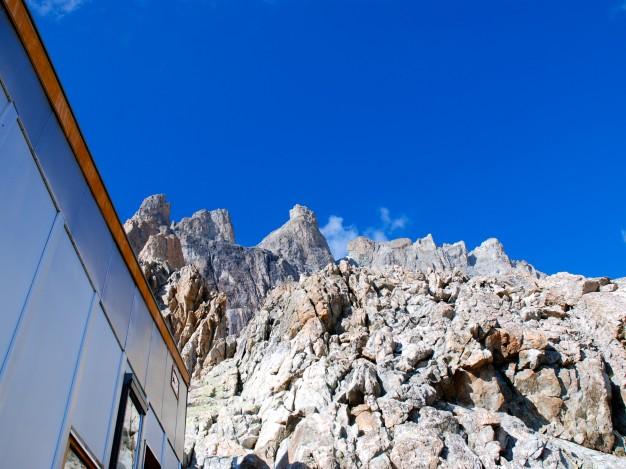 Le Grand Pic de la Meije, depuis le refuge du Promontoire. Alpinisme dans le massif des Ecrins, Oisans.