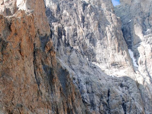 Grand Pic de la Meije, versant sud. Alpinisme avec les guides de Serre Chevalier. Massif des Ecrins, Oisans.
