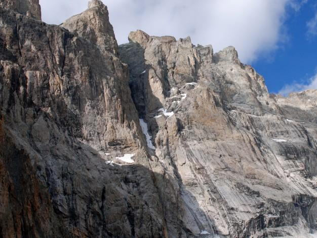 Grand Pic et arêtes de la Meije, versant sud. Alpinisme avec les guides de Serre Chevalier. Massif des Ecrins, Oisans.