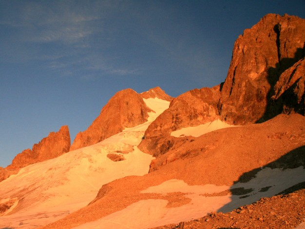 Tour Choisy, Grande Ruine et Roche Méane. Alpinisme avec les guides de Serre Chevalier, Massif des Ecrins, Oisans.