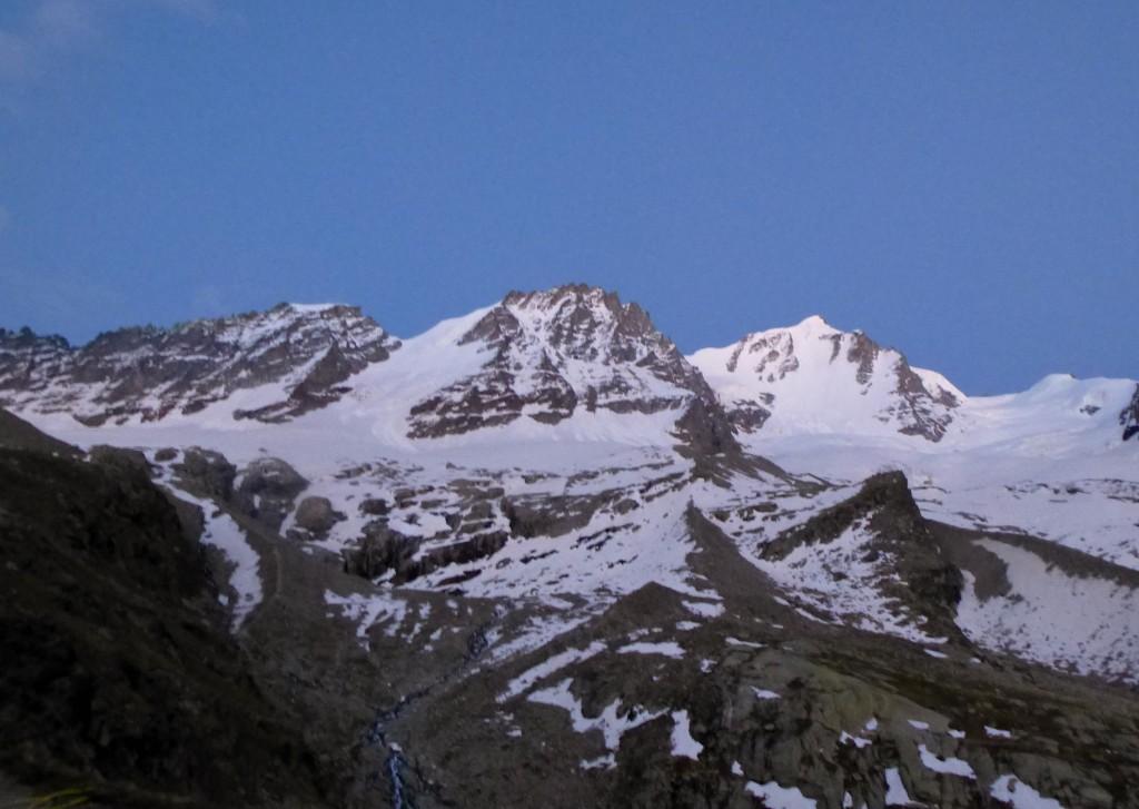 Becca di Montandayné, Petit Paradis (3923 m) et Grand Paradis (4061 m)