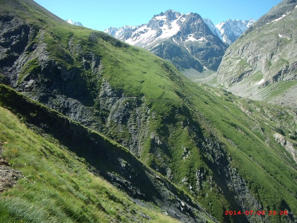 Le sentier des crevasses versant Romanche