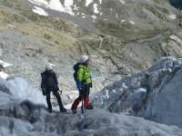 Au dessus du refuge du glacier blanc