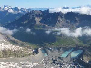 Lacs d'arsine depuis le pic du Glacier Blanc