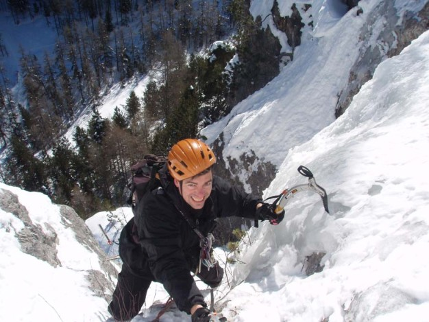 Dernière longueur de la cascade de glace
