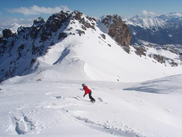 Ski hors piste à Serre Chevalier avec les guides de Serre Chevalier.