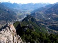 vallée de la Durance, vue des crêtes de Freissinières