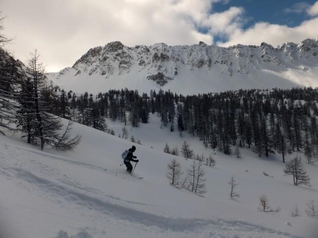 Ski des randonnée vers l'Izoard avec les guides de Serre Chevalier