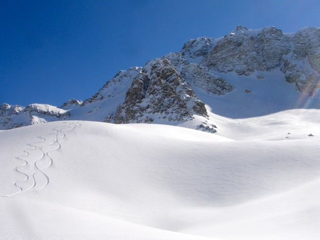 Ski de randonnée à la Pointe de Chalance Ronde avec les guides de Serre Chevalier.
