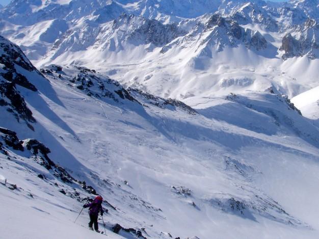 Montée au Col de la Grande tempête en ski de randonnée.