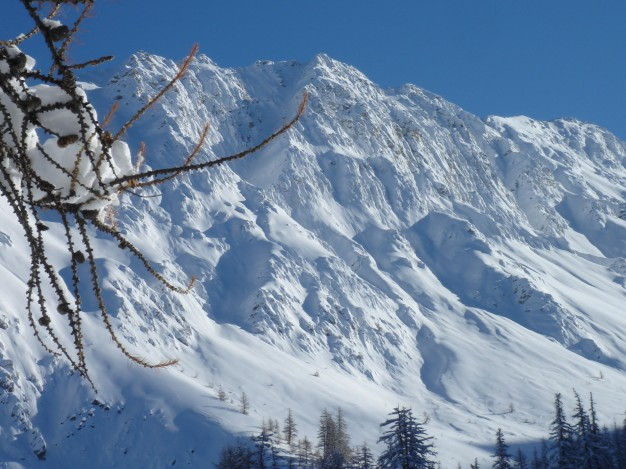 Ski hors piste / free ride à Serre Chevalier.
