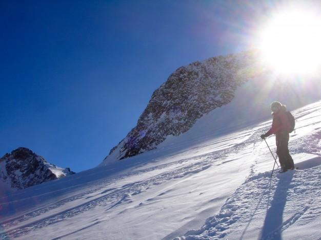 Ski hors piste à la Grave. Free ride avec les guides de Serre Chevalier.