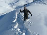 Raquette au col de l'Izoard avec les accompagnateurs du bureau des guides de Serre-Chavalier