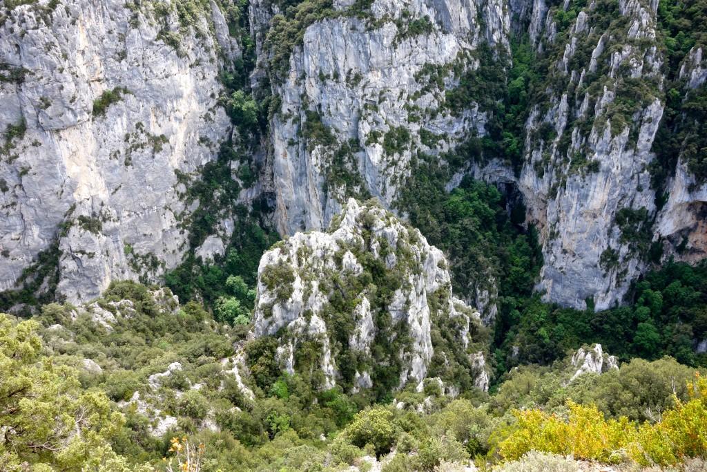 Les gorges du Verdon depuis le sentier du Bastidon