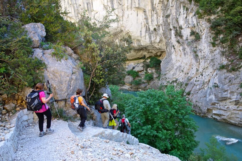 Sur le sentier Blanc-Martel, Gorges du Verdon