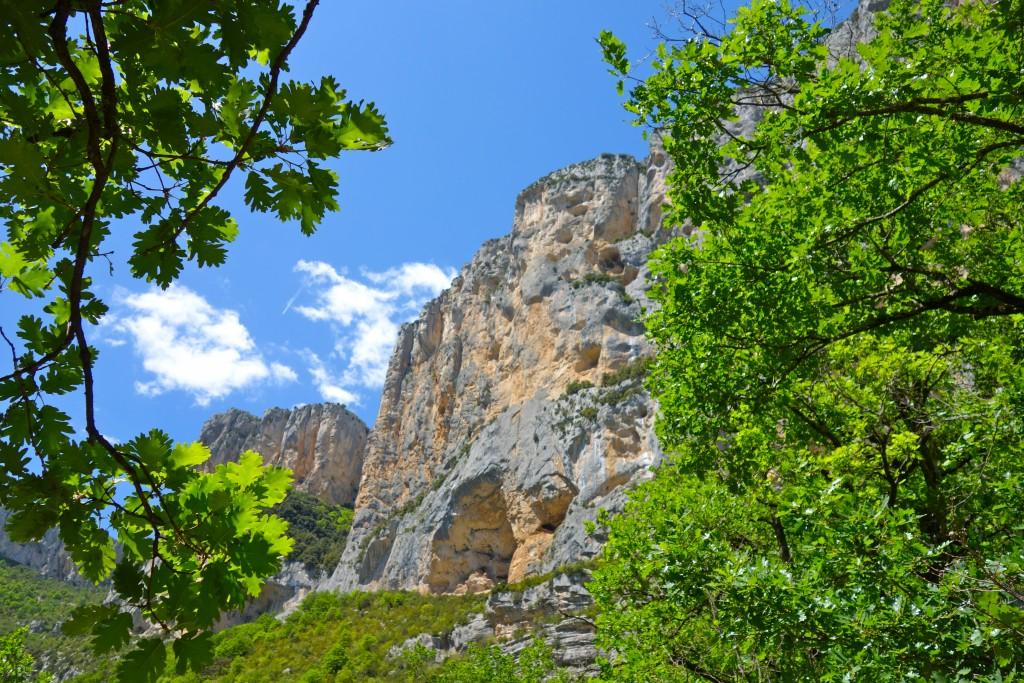 Verdon : falaise de l'Escalès