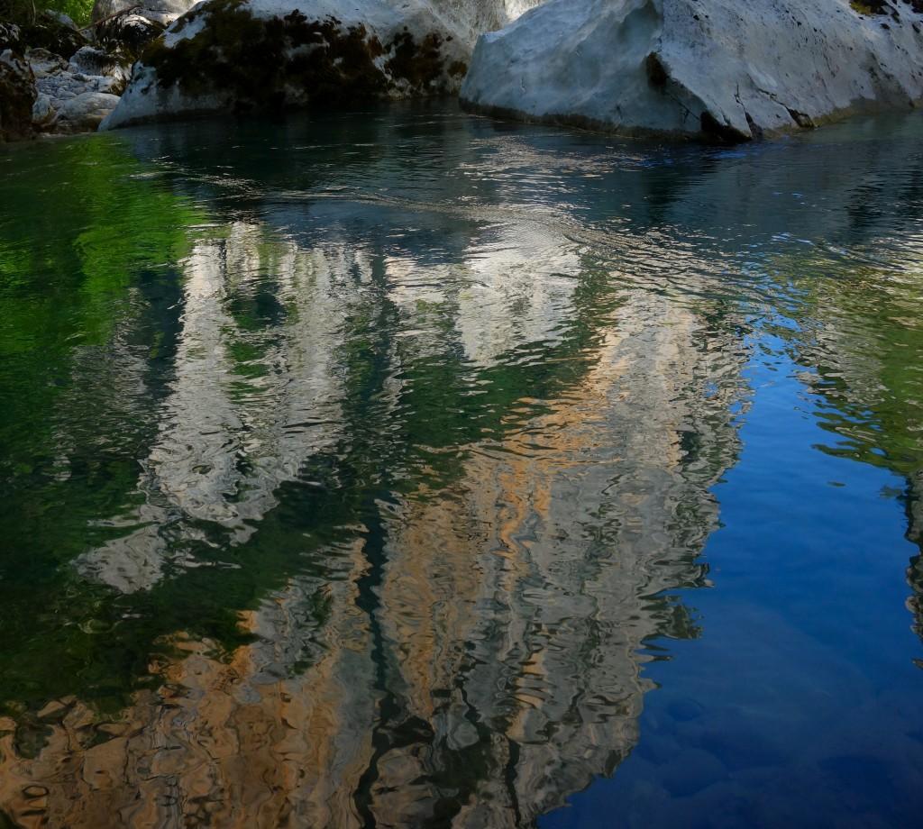 Reflets sur le Verdon, Sentier de l'Imbut