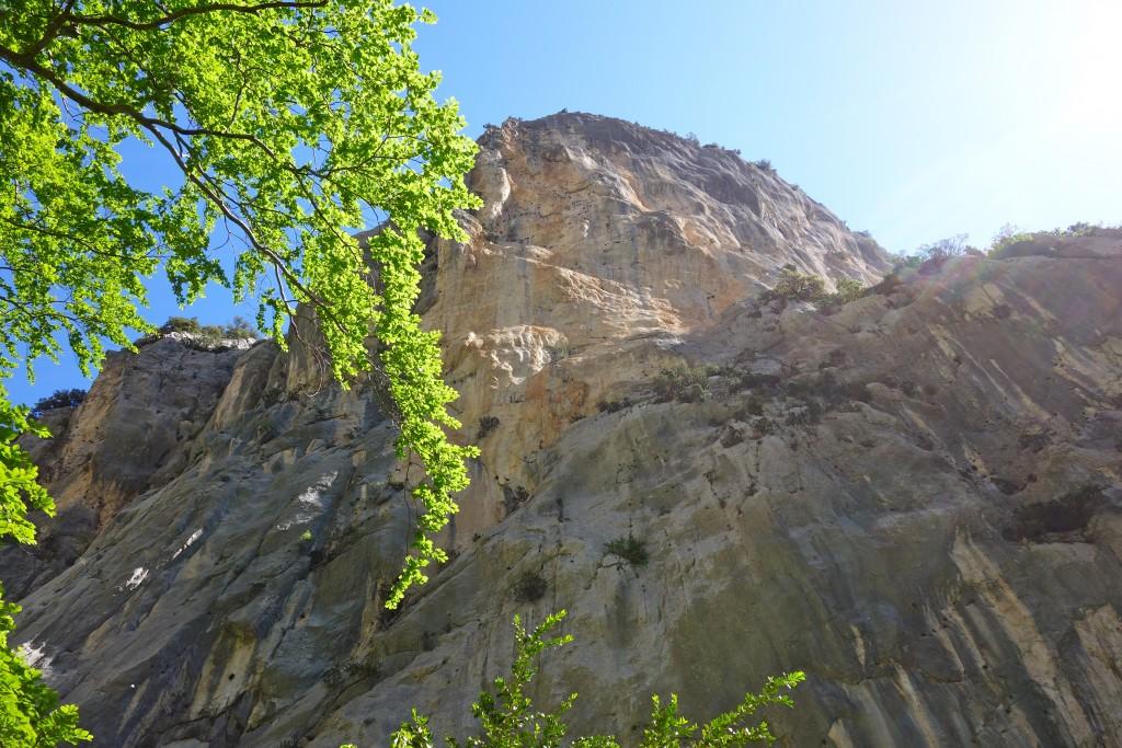 Paroi au-dessus du Sentier de l'Imbut