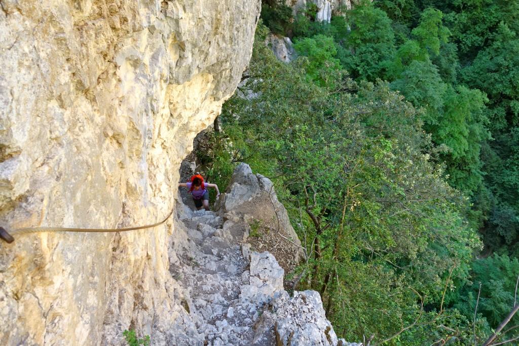 Escalier sur le Sentier Vidal