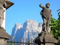 Les Pales di San Lucano, vues d'Agordo, Dolomites.